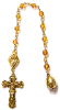 Amber Swarovski Crystals Channel Decade Rosary Beads (SKU: 8024amber)