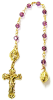 Amethyst Swarovski Crystals Decade Rosary Beads (SKU: 8024AM)