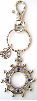 Glory Sapphire Silver Finger Rosary Key Chain (SKU: P6496)