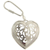 Celtic Inspired Silver Tone Heart Key Ring (SKU: 66621)