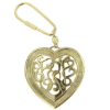 Celtic Inspired Gold Tone Heart Key Ring (SKU: 66622)