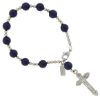 Navy Tiger Eye Rosary Bracelet (SKU: 91114)