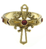 Gold Siam Red Cross Ring (SKU: 91163)