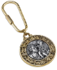 Gold and Silver-Tone St. Christopher Key Fob (SKU: 91212)