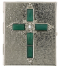 Emerald Crystal Cross Pill Box (SKU: 91218)