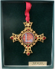 'L' Gold Vatican Collection Ornament (SKU: P7070L)