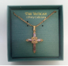 Amethyst and Gold-plated Cross Vatican Necklace (SKU: P4326)