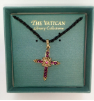 Amethyst and Gold-plated Cross Vatican Necklace (SKU: P5063-2)