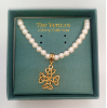 Celtic Gold-Plated Cross Pearl Vatican Necklace (SKU: P676CHMG)