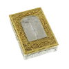 Gold and Silver-Tone Crucifixion Rosary Box (SKU: P6791)