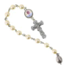 Pope Francis Silver-Plated and Pearl Decade Rosary (SKU: P7810)