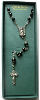 Black Bead and Silver Vatican Library Rosary (SKU: 1142VLC)