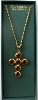 Citrine Swarovski Crystal Cross Vatican Necklace (SKU: P6767CIT)