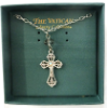 Crystal Accented Vatican Library Cross Necklace (SKU: P4905)