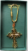 Gold Cross Vatican Library Collection Key Ring (SKU: P6490G)