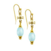 Petite Cross Venetian Glass Beaded Earrings (SKU: P2133)
