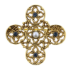 Windows to Heaven Embellished Filigree Cross Brooch (SKU: P3189)