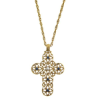 Windows to Heaven Embellished Filigree Cross Necklace (SKU: P4797)