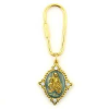 Heavenly Devotion Gold Tone Madonna and Child Key Ring (SKU: P6485)