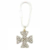 Celtic Trinity Carolingian Cross Key Ring (SKU: P6487)