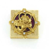 Faith, Love & Joy Gold, Crystals, Enamel Vatican Pill Box (SKU: P6768)