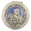 Silver and Blue Angel Pill Box (SKU: P6773)