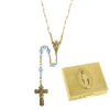 Light Sapphire-December Birthstone Rosary and Rosary Box (SKU: P8064)