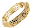 Gold Tone Crystal Cross Stretch Bracelet (SKU: P9079)