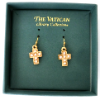 Gold-plated Pearl Vatican Library Earrings (SKU: P2131)