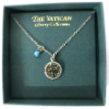 Silver Cut-out Cross Medallion Vatican Collection Necklace (SKU: P4913)