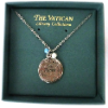 Vatican Library Collection Silver-plated Peace Medallion Necklace (SKU: P4392)
