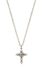 Marcasite - Silver Cross Necklace