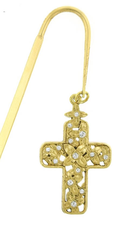 Gold Cross Bookmark