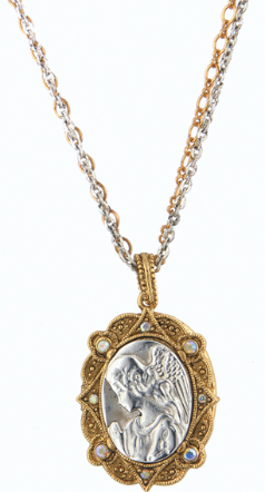 Host of Angels Guardian Angel Necklace Locket