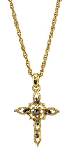 Gold-Tone Cross Pendant Necklace 18""