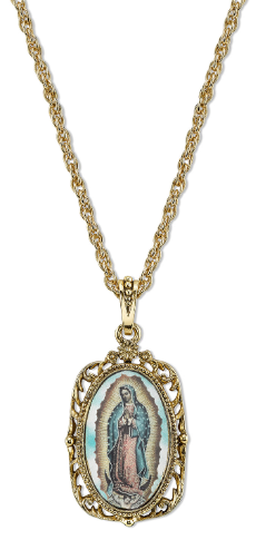 Our Lady of Guadalupe Medallion Necklace