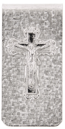 Silver Plated Crucifix Money Clip