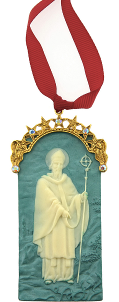 St. Patrick Gold Cameo Ornament