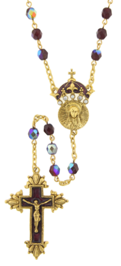 King of Kings Amethyst Hued Crown Rosary