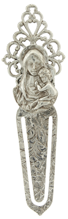 Silver-Tone Mary and Child Bookmark