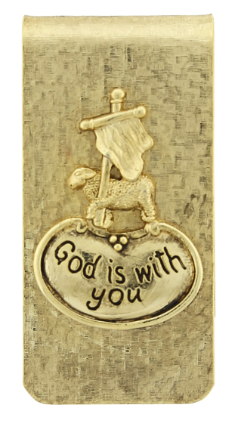 'God is With You' Money Clip
