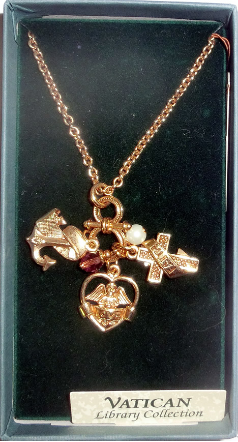 Love Faith Hope Charm Vatican Collection Necklace
