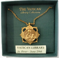 St. Peter Medallion Vatican Library Necklace