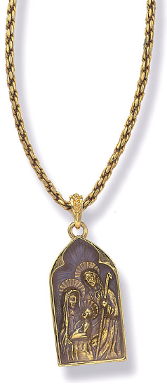 Holy Family Medallion Necklace