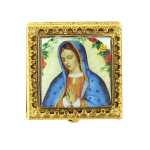Square Mother Mary Pill Box