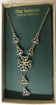 Vatican Collection Celtic Knot Y Drop Necklace
