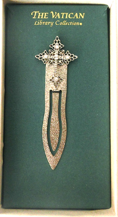 Silver and Crystal Vatican Library Bookmark