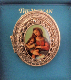 Mother and Child Vatican Library Collection Pill Box