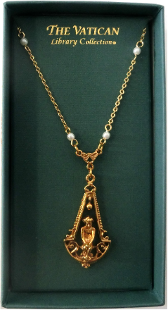 Gold Cherub Vatican Library Necklace