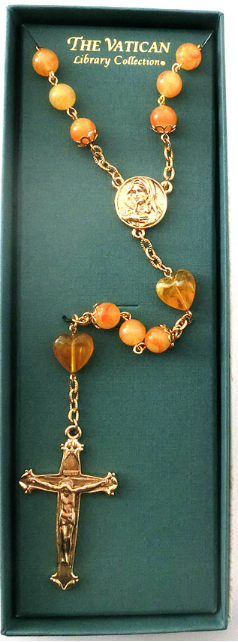 Vatican Collection Citrine Bead Rosary